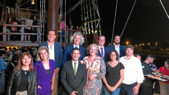 Destino Huelva muestra todos sus atractivos en Valencia, en un acto celebrado en la nao Santa María