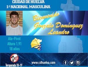 Gonzalo Domínguez, nuevo jugador del Ciudad de Huelva de la Primera Nacional de baloncesto.