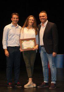 El trofeo a la Mejor Deportista local fue para María de la Cinta Sánchez Flores, gimnasta palmerina de 16 años.