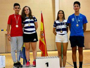 Lucía Morán y Alba Padilla, plata y bronce en los dobles mixtos.