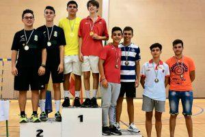 Alejandro Pérez obtuvo la medalla de bronce en los dobles masculinos Sub 19.