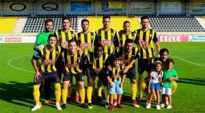 El San Roque tiene este domingo un partido muy complicado en Algeciras. / Foto: @SanRoqueLepe.