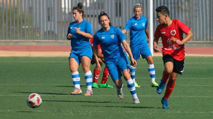 Empate a un gol en el partido entre el Sporting y el cadete del Cartaya. / Foto: @sportinghuelva.