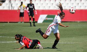 Un aspecto positivo del partido en Sevilla fue la reaparición de la capitana Anita. / Foto: www.lfp.es.