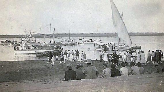 Ría de Punta Umbría en la década de los cuarenta del siglo XX