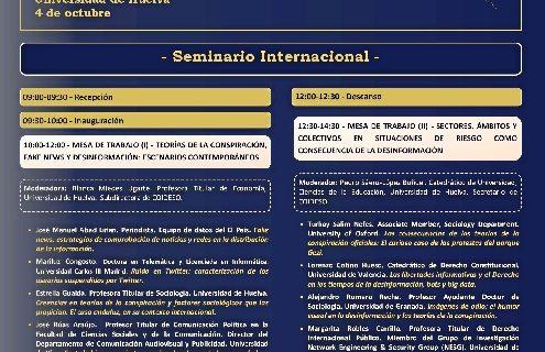 La Universidad de Huelva analiza el auge de la desinformación en un seminario internacional especializado