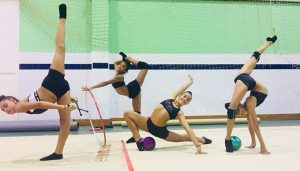 Las chicas del Rítmico Colombino tienen este viernes su primera cita competitiva en Málaga.