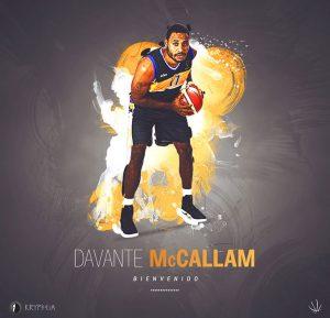 En la presentación del equipo se hizo oficial el fichaje del norteamericano Davante McCallam.