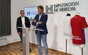 El presidente de la Diputación, Ignacio Caraballo, y el del Recre, Manuel Zambrano en el acto de este miércoles.