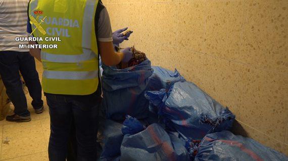 Detenidas dos personas a bordo de una embarcación de recreo con más de una tonelada de hachís