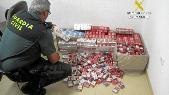 Intervenidas 1100 cajetillas de tabaco de contrabando en Lepe