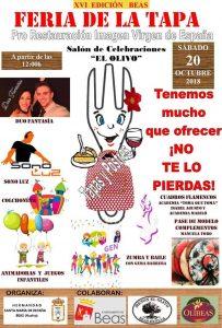 Cartel de la Feria de la Tapa de Beas.
