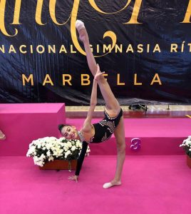 Ángela Martín, en su participación en el Torneo Internacional 'Andalucía Cup'.