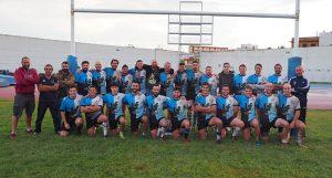 Formación del CR Bifesa Tartessos en el partido ante el Huelva Unión Rugby.