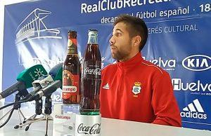 Borja Díaz habló este miércoles ante los medios. / Foto: @recreoficial.