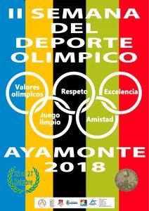 Cartel de la II Semana del Deporte Olímpico que se celebra estos días en Ayamonte.