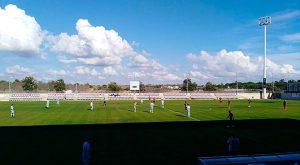 El Cartaya por fin rompió una racha adversa de resultados y ganó, en este caso al Atlético Algabeño. / Foto: @AAlgabeno.