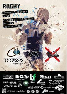 Cartel del partido que enfrentará este sábado a los dos equipos de Huelva en la Segunda Andaluza de rugby.