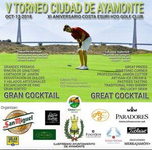 Cartel del torneo de golf que tendrá lugar en Ayamonte.