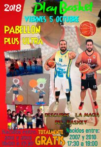 Cartel del 'Playbasket Ciudad de Palos', del viernes 5 de octubre.