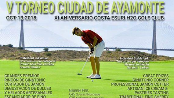 El Club de Golf H2O acoge este sábado el V Torneo 'Ciudad de Ayamonte'