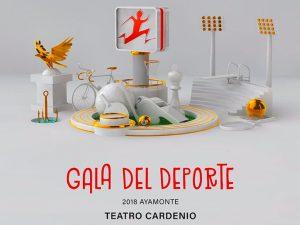 Cartel de la Gala del Deporte en Ayamonte.