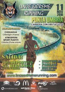 Cartel de la prueba atlética que se celebrará en Punta Umbría el 11 de noviembre.
