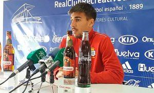 Diego Jiménez, durante la rueda de prensa de este miércoles. / Foto: @recreoficial.