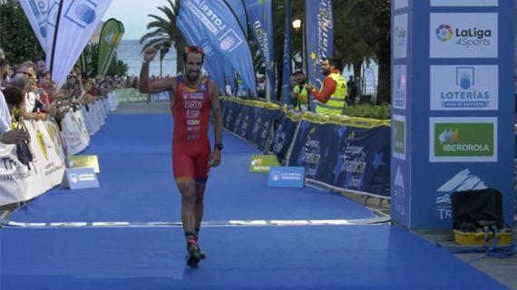 Emilio Martín tira de oficio para amarrar la medalla de bronce en el Campeonato de Europa de Duatlón
