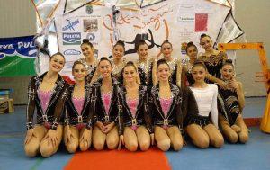 Representantes del Rítmico en el Torneo Nazarí en Granada.