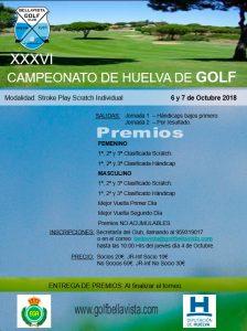 Cartel del torneo de golf que se disputará los días 6 y 7 de octubre en Bellavista.