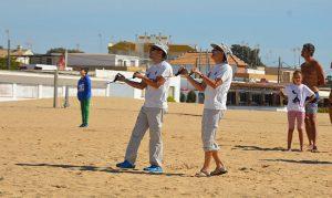 Los hermanos Molina, primero y tercero en la modalidad cuatro hilos.