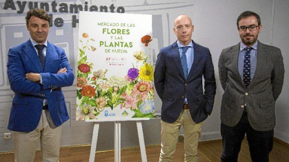 Huelva celebra el próximo sábado su primer Mercado de Flores y Plantas