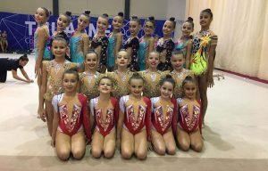 Buena actuación de las gimnastas onubenses en el Torneo Maharana en Mairena del Alcor.