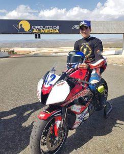 Raúl Pérez, campeón de Andalucía Open 600 de Motociclismo de Velocidad.