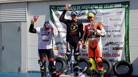 El palmerino Raúl Pérez conquista el Campeonato de Andalucía Open 600 de Motociclismo de Velocidad