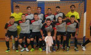 Formación del Smurfit Kappa, único equipo de Huelva que ganó este sábado en la Tercera División de fútbol sala.