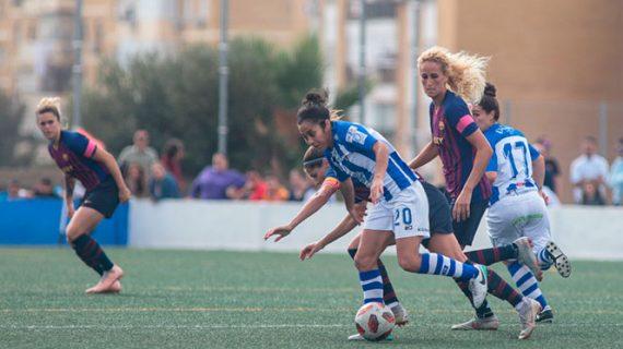 El Sporting Puerto de Huelva compite pero no le llega para evitar la derrota ante el Barcelona (1-3)
