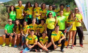 Componentes del Club Piragüismo Tartessos en la prueba que tuvo lugar en Portimao.