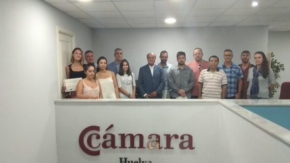 Entrega de diplomas en la Cámara de Comercio de Huelva