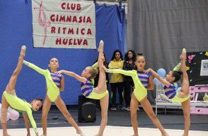 Conjunto Prebenjamín Base del GR Huelva, que conquistó el oro. / Foto: Pablo Gómez.