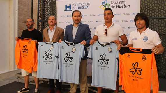 El equipo de fútbol sala de la ONCE lucirá en sus equipaciones la campaña 'Que sea de Huelva'