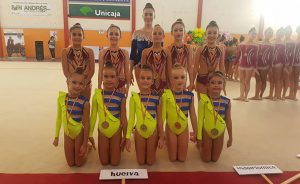 El GR Huelva firmó un pleno de podios en el Torneo Miralmar en Málaga.