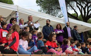 El alcalde Juan Miguel Polo leyó un manifiesto institucional contra la Violencia de Género, al coincidir la prueba con el 25-N.