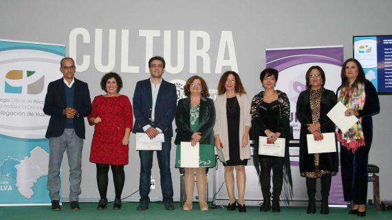 Entrega de reconocimientos públicos del Colegio de Psicología de Andalucía Occidental en Huelva