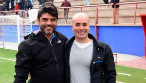 Aurelio Santos y Pascual García, tras el partido de este domingo ante el Torreblanca. / Foto: David Limón.