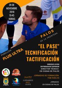 Cartel de la Jornada Formativa de la Federación Andaluza de Baloncesto en Huelva que se impartirá en Palos de la Frontera.