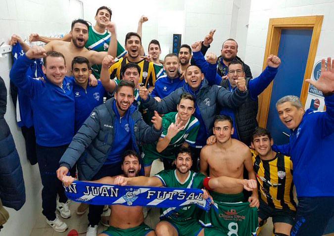 Para el CD San Juan FS, la alegría por la permanencia no queda empañada por la derrota en el último partido.