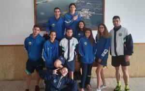 Componentes del CB Huelva en la prueba celebrada en Portugal.