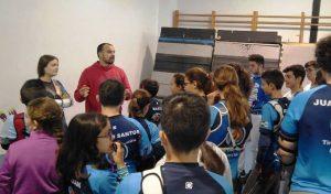 Carlos Morillo, durante las jornadas con los arqueros menores.